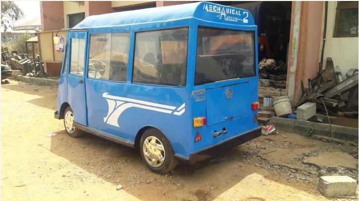The Minibus Designed by Nigerian UNIZIK Students (photos)