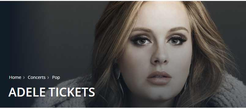 Get Adele concert tickets here