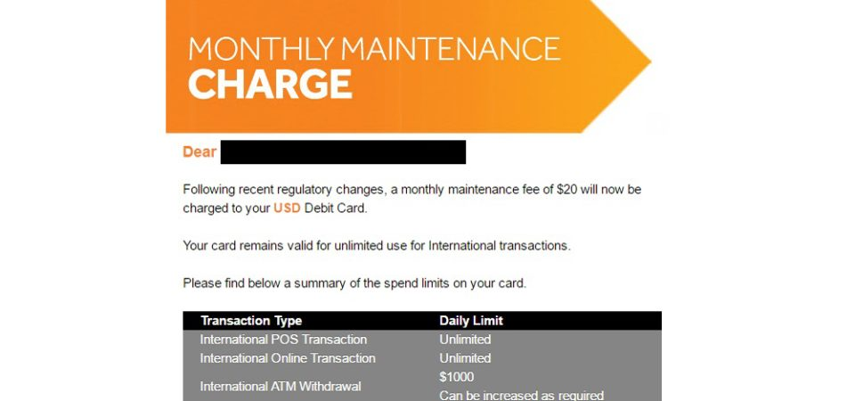 Access Bank Will Now Charge $20 Monthly Maintenance Fee on Dollar USD Debit Card
