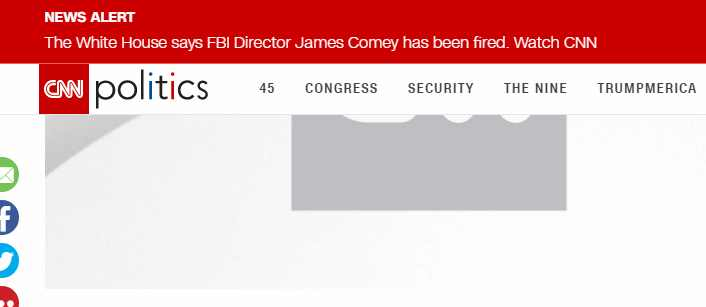 FBI Director James Comey Has Been Fired – White House
