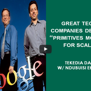 """Great Technology Companies Deploy """"Primitives Model"""" For Scale"""