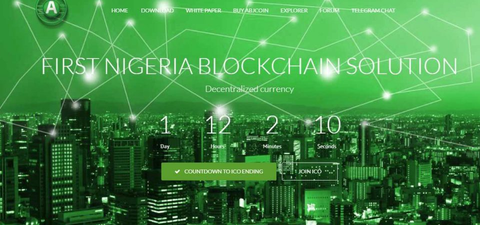 Abjcoin is Nigeria's First Cryptocurrency, Raising Funds via ICO. Has a Whitepaper