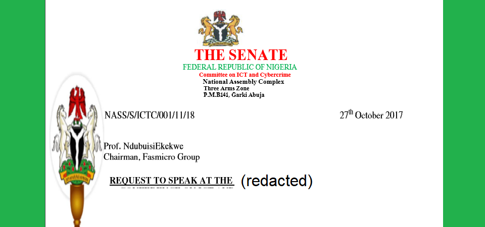 People, What Do I Tell The Nigerian Senate Committee On Technology?