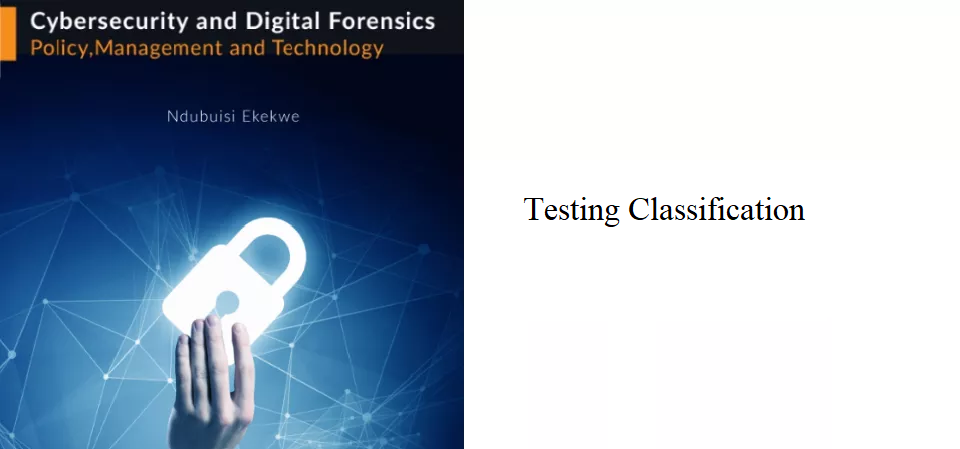 8.3 – Testing Classification