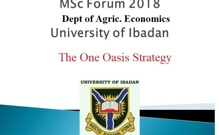 University of Ibadan's MSC Forum Discusses The One Oasis Strategy