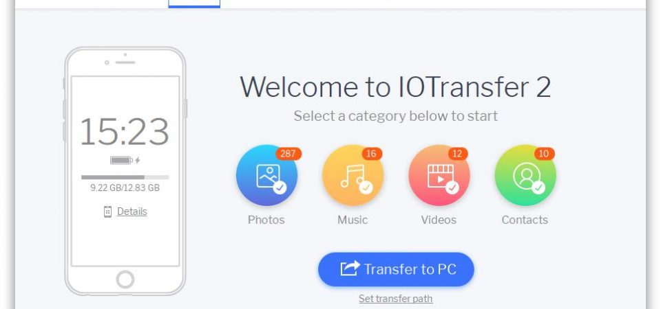 IOTransfer 2, An Easier Solution to Sync Data between iPhone/iPad and Windows PC