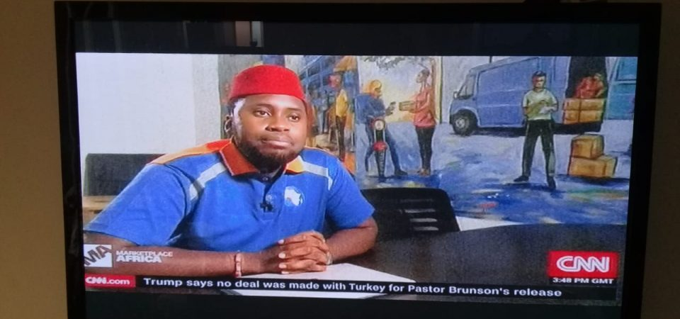 Kobo360 Wears Red Cap to CNN