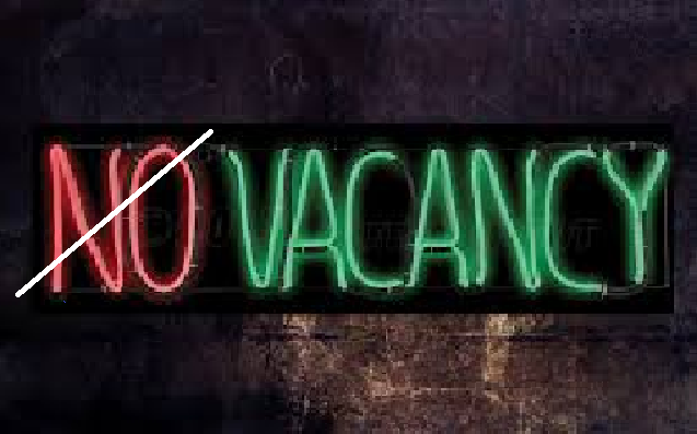 NO VACANCY is Meant for Average People