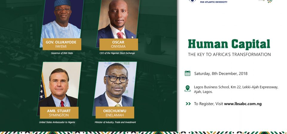 Join Lagos Business School MBA Students On Dec 8, 2018 – Gov Fayemi, NSE Onyema, Min Enelamah, US Amb Stuart, More