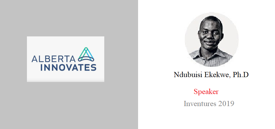 Have Accepted Invitation of Government of Alberta (Canada) to speak in Inventures 2019