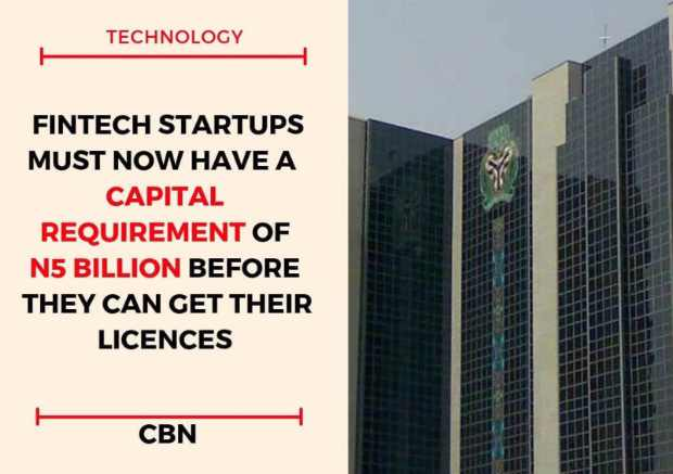 Nigeria's Central Bank Sets N5 Billion for Fintech Min Capital Requirement