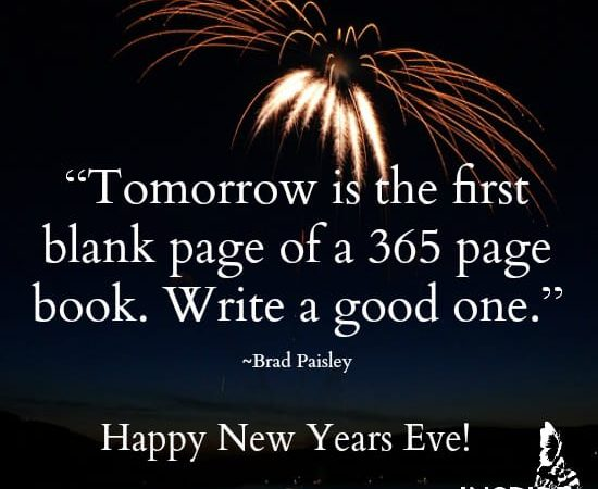 Happy New Year's Eve: Write a Great 365-Page Book
