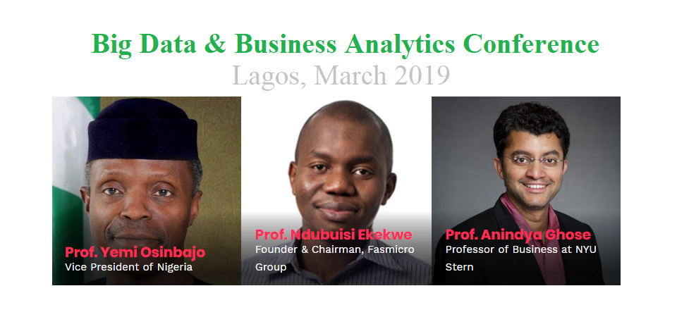 Meet Me With Vice President Prof Osinbajo As I Keynote BDA Business Analytics Conference Next Month, Lagos