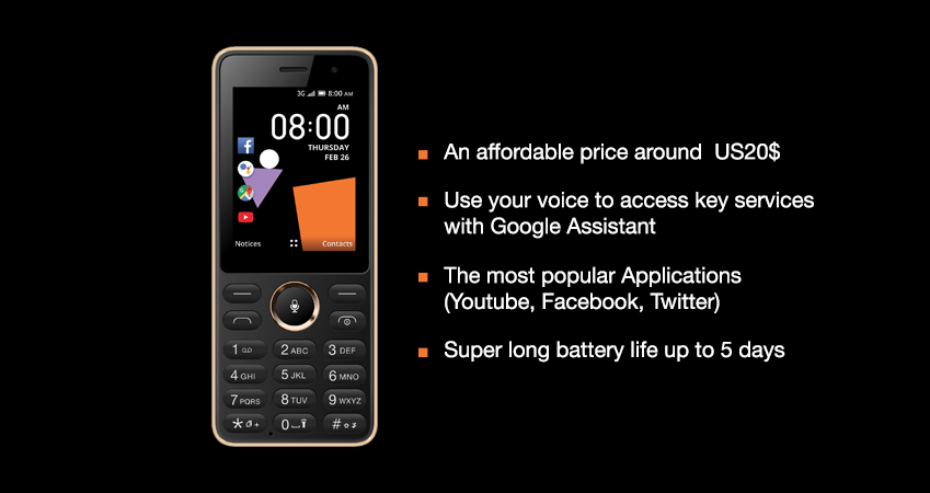 The Orange's Sanza – $20 Smart Feature Phone With Voice Assistant
