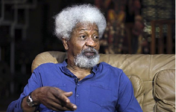 Nigerians React as Wole  Soyinka, Garba Shehu lock horns over Buhari's Lockdown Order