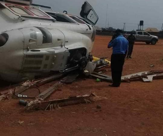 Yemi Osinbajo's Helicopter Crash-Landed in Kogi (He is Fine) – Photos and Video at Scene