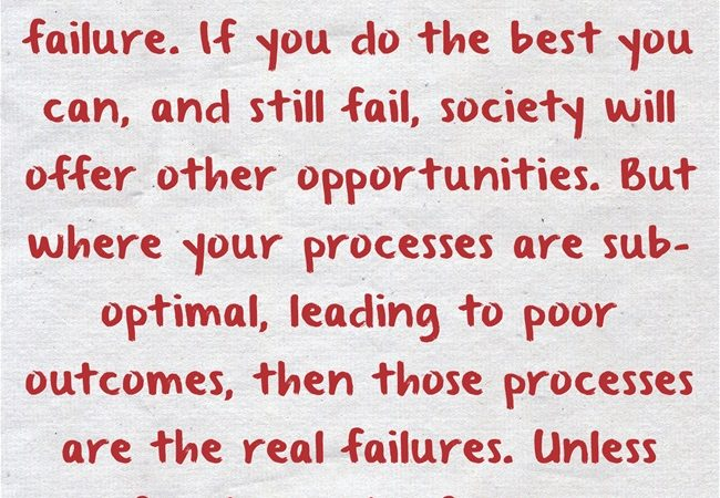 The Real Failures in Life