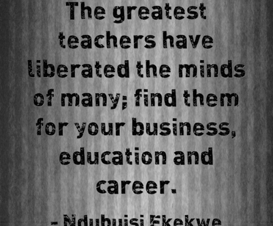 The Greatest Teachers