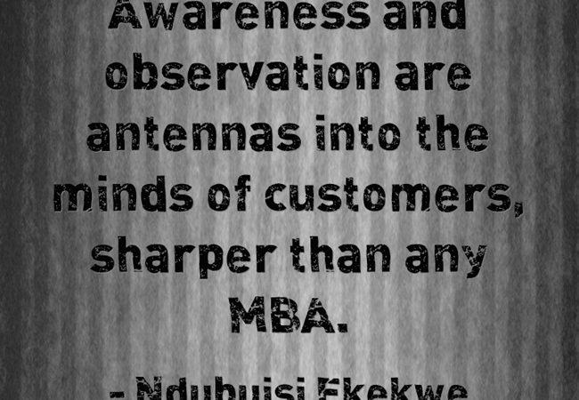 Awareness and Observation Win Markets