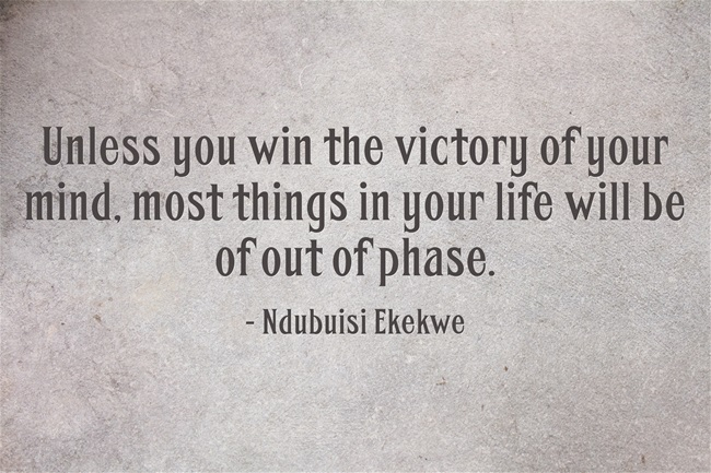 Win the victory of your mind
