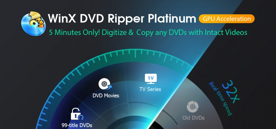 WinX DVD Ripper Platinum Fixes DVD Playback Problems by Decoding DVDs of Any Type