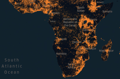 The Facebook's Density Map of Africa