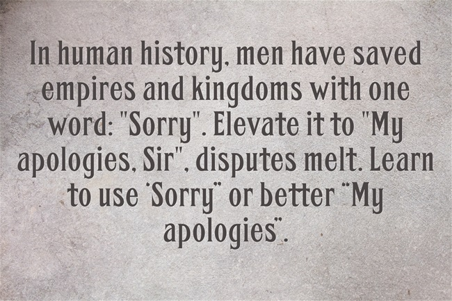 "The Power of ""Sorry"""