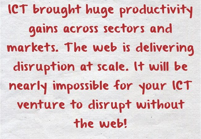 To Deliver Disruption At Scale