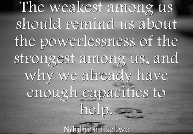 The Powerlessness Of The Strongest