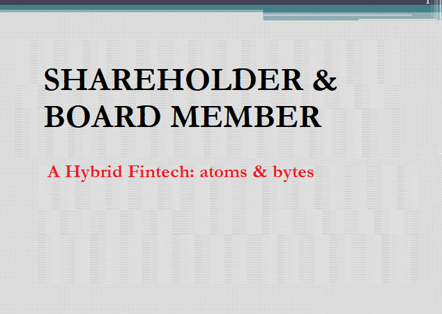 This Week, I Became a Shareholder and Board Member of an Amazing Fintech Company