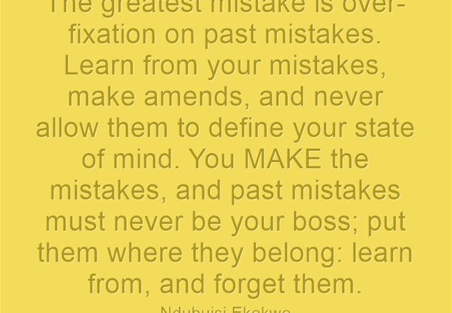 Avoid the Greatest Mistake of All Mistakes