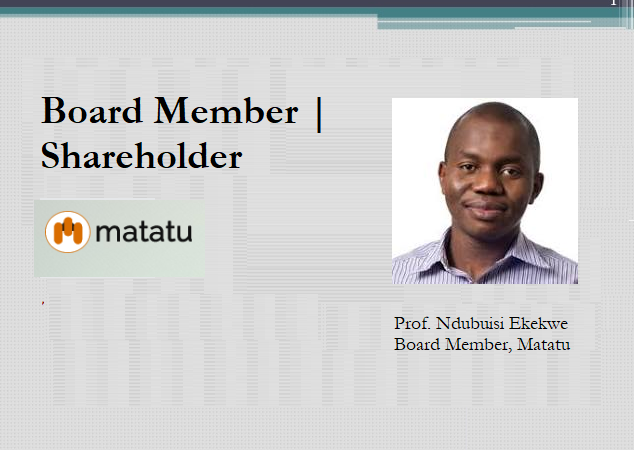 Ndubuisi Ekekwe Becomes Matatu Shareholder, Joins Board