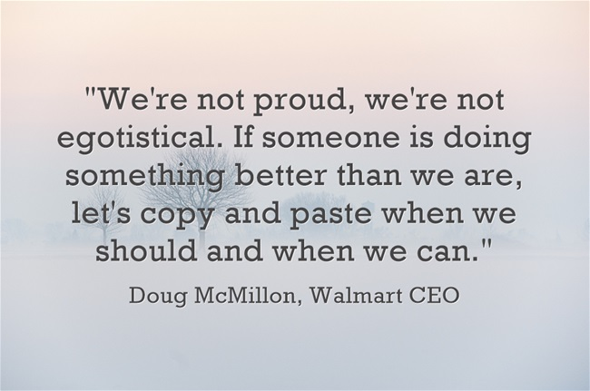 "The Walmart CEO's Confession: ""let's copy and paste when we should and when we can"""
