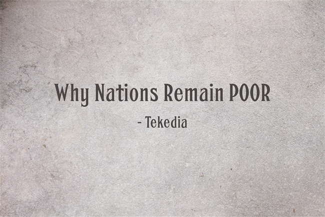 Why Nations Remain POOR [Video]