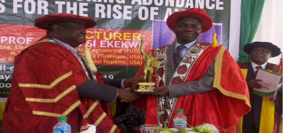 My Undergraduate Advisor Becomes Inaugural Dean of SESET in FUTO Owerri