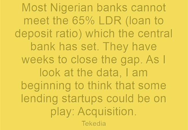 Some Nigerian Banks Could Buy Lending Startups To Meet LDR Target