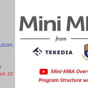 Mini-MBA: Full Program Curriculum with Dates, Video Overview