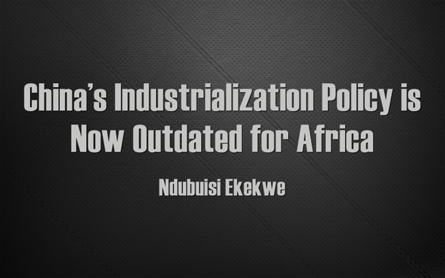 China's Industrialization Policy is Now Outdated for Africa [Video]