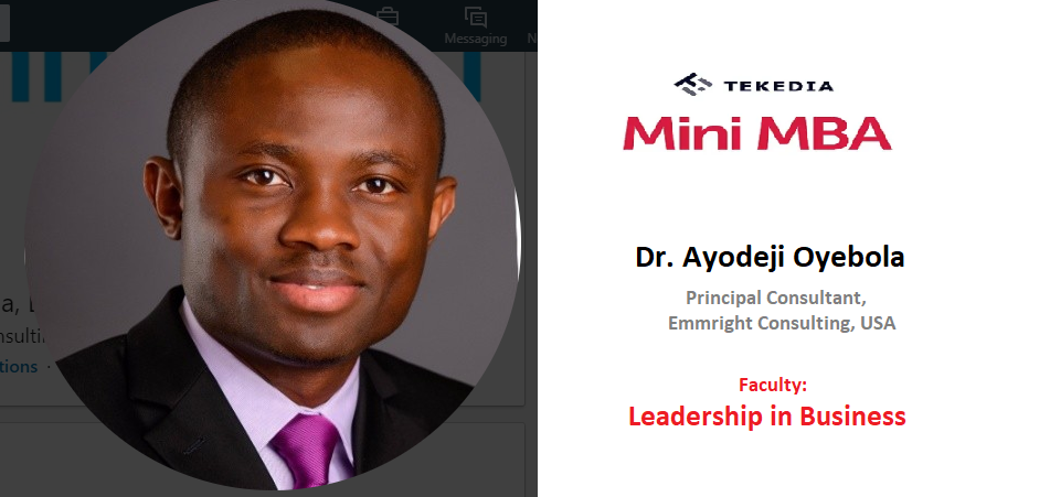 A Professor to Teach Leadership in Business in Tekedia Mini-MBA