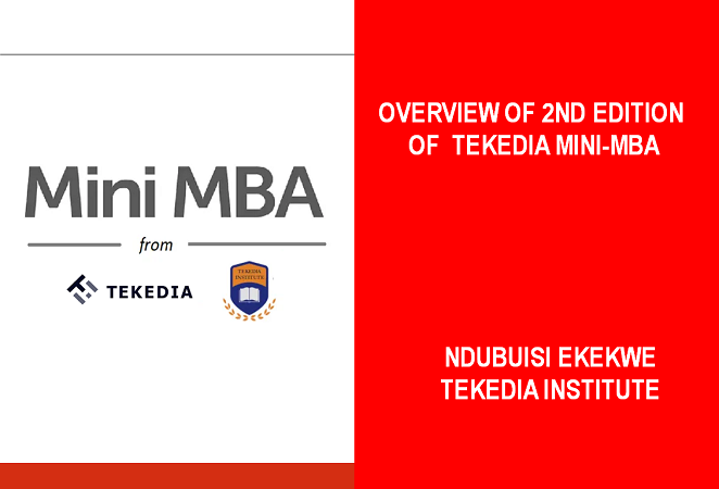 Overview of 2nd Edition of Tekedia Mini-MBA [Video]