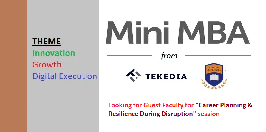 """Looking for A Guest Faculty on """"Career Planning & Resilience During Disruption"""" for Tekedia Mini-MBA"""
