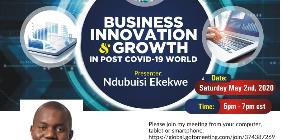 Ndubuisi Ekekwe To Speak in Pan African IT Forum Tomorrow –  6pm NYC Time  (Webinar)