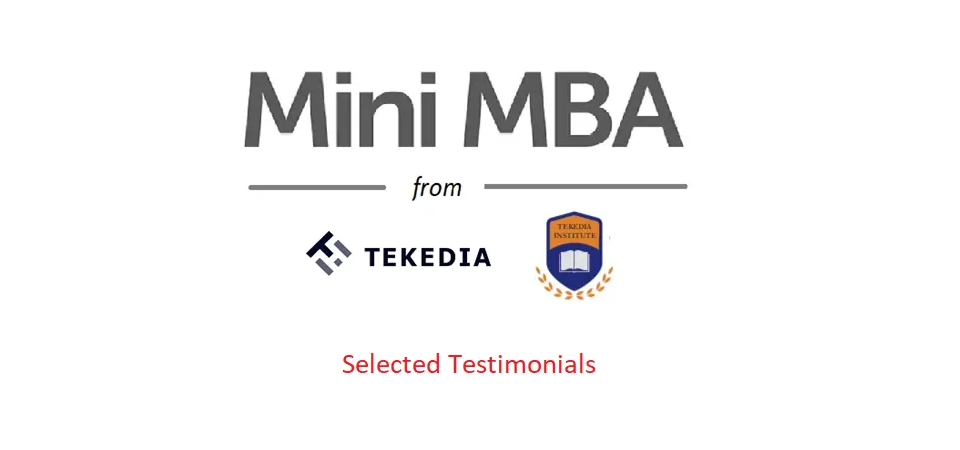 Testimonials on Tekedia Mini-MBA