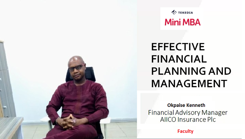 Effective Financial Planning & Management Session in Tekedia Mini-MBA
