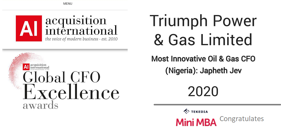 "Tekedia Mini-MBA Congratulates Our Faculty Who Wins ""Most Innovative CFO"" Award"