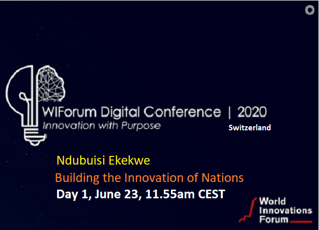 Ndubuisi Ekekwe To Speak In World Innovations Forum Switzerland