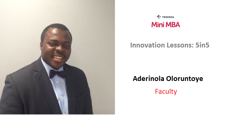 An Innovation Dean To Handle Tekedia Mini-MBA's Lessons 5in5