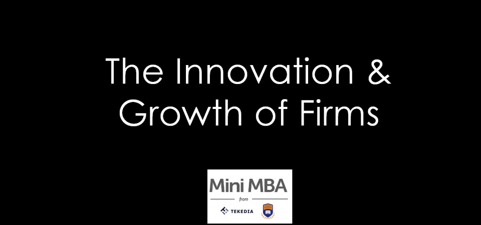 The Innovation & Growth of Firms [Video]