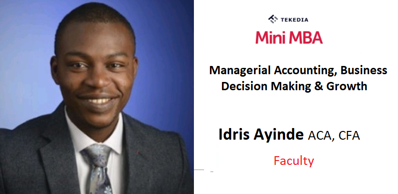 An Accounting Expert To Teach Managerial Accounting in Tekedia Mini-MBA