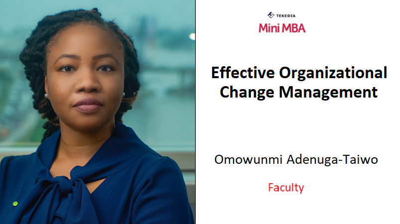 A Strategy Consultant To Teach Change Management in Tekedia Mini-MBA